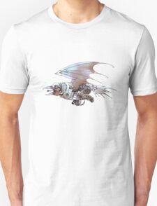 Steampunk Bird -- Watercolor version Unisex T-Shirt