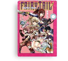 Fairy Tail Manga Cover Canvas Print