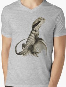 Australian Water Dragon Mens V-Neck T-Shirt
