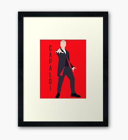 12th Doctor Peter Capaldi minimalist Framed Print
