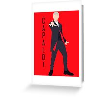 12th Doctor Peter Capaldi minimalist Greeting Card