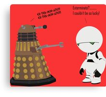 Dalek and Marvin mashup Canvas Print