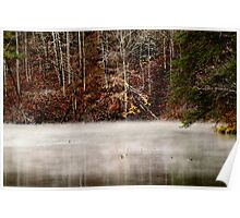 Fog over Fishpond Lake Poster