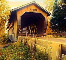 Smith Rapids Covered Bridge,Price County,Wisconsin U.S.A. by JohnDSmith