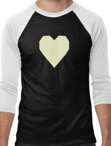 Cream  Men's Baseball ¾ T-Shirt