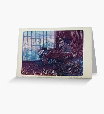 captive birds Greeting Card