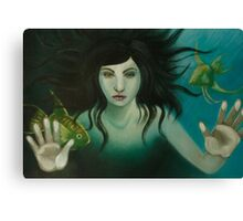 Woman in the water Canvas Print