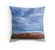 Snow Train Throw Pillow