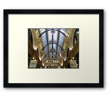 In the Block Arcade Framed Print