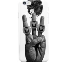 Bang 3 - Blk on Wht iPhone Case/Skin