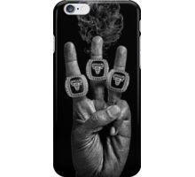 Bang 3 - Blk on Blk iPhone Case/Skin