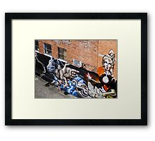 She's almost lost in the wall Framed Print