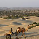 Mobile Vendor, Khuri, near Jaiselmir, Rajasthan, India by RIYAZ POCKETWALA