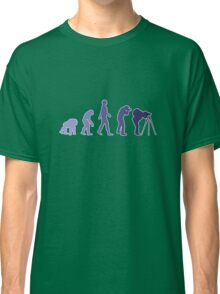 Purple Photographer Evolution Classic T-Shirt