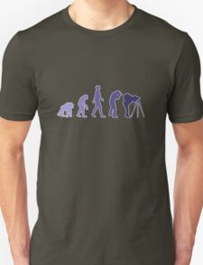 Purple Photographer Evolution Unisex T-Shirt