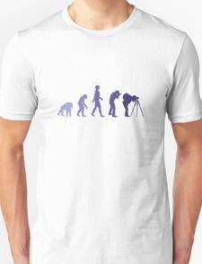Purple Photographer Evolution Unisex T-Shirt