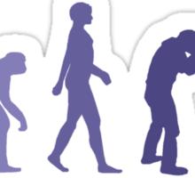 Purple Photographer Evolution Sticker
