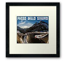 Passo Dello Stelvio Cycling Framed Print