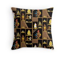 Chicken Coop Throw Pillow