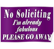 No Soliciting Poster