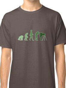 Green Photographer Evolution Classic T-Shirt
