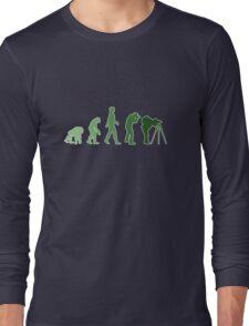Green Photographer Evolution Long Sleeve T-Shirt