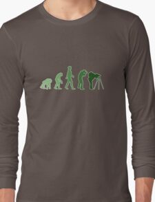 Green Photographer Evolution T-Shirt