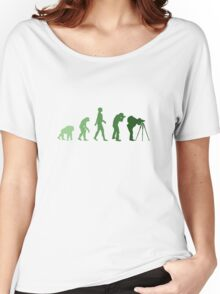 Green Photographer Evolution Women's Relaxed Fit T-Shirt
