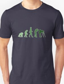 Green Photographer Evolution Unisex T-Shirt