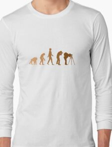 Earth Photographer Evolution Long Sleeve T-Shirt