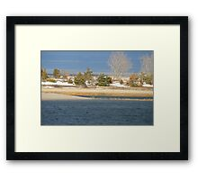 Water in the Winter Framed Print
