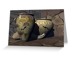 Ancient Egyptian Pottery 2 Greeting Card