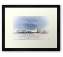 What A Snow Tower Framed Print