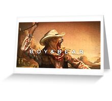 Boy & Bear Harlequin Dream Greeting Card