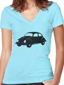 Da' Beetle Women's Fitted V-Neck T-Shirt