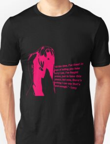 elfen lied lucy quote anime manga shirt T-Shirt