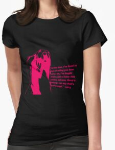 elfen lied lucy quote anime manga shirt Womens Fitted T-Shirt
