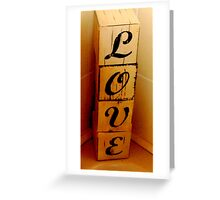 love blocks Greeting Card