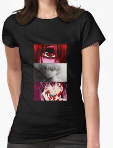 future diary mirai nikki hunter x hunter elfen lied killua yuno lucy anime manga shirt Womens Fitted T-Shirt