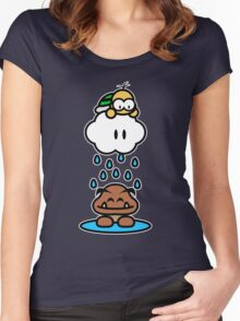 Raindrops keep falling on my head Women's Fitted Scoop T-Shirt