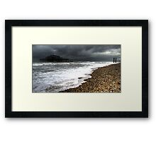 The end is nigh..! the remains of West Pier Brighton Framed Print