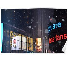 Time Square in Winter Poster
