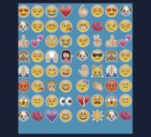 blue emoji Kids Tee