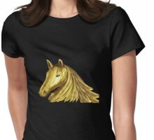 Horse Mane 4 Womens Fitted T-Shirt
