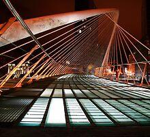Zubizuri bridge at night by John Gaffen