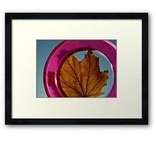 Held by a paper weight Framed Print