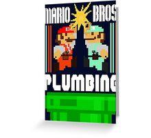 Mario Bros. Plumbing  Greeting Card