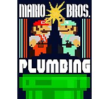 Mario Bros. Plumbing  Photographic Print