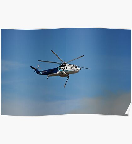Helicopter Bush Fire Water Tanker Poster