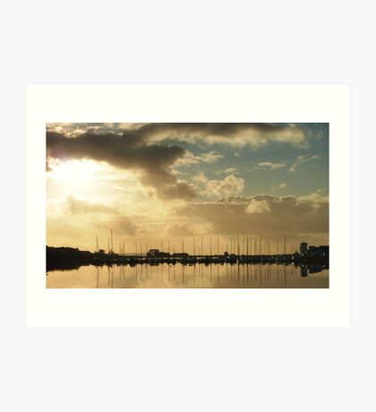 Kilrush Creek Marina Art Print